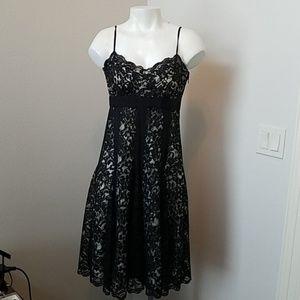 DKNY Black Lace Cocktail Dress